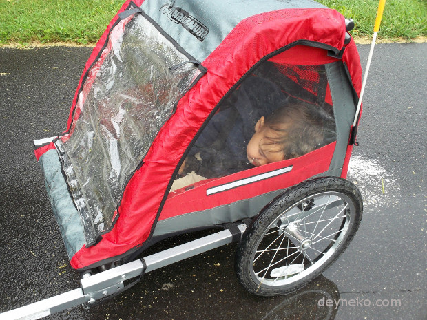 Bike trailer and rain