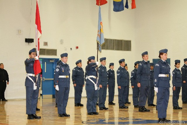 Garde-drapeau de cadets de l'air