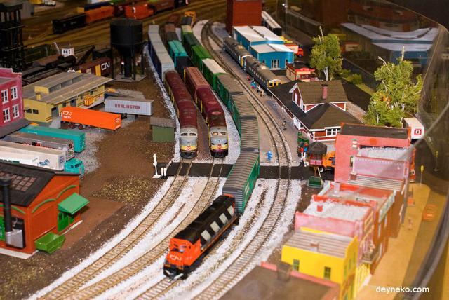 миниатюрная железная дорога в музее
