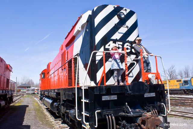 Тепловоз в Канадском железнодорожном музее