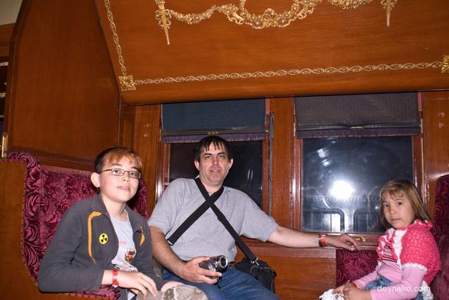 Внутри старинного канадского вагона