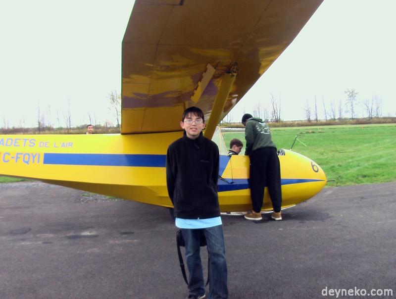 Алексей Дейнеко. На фото планер на котором я буду летать