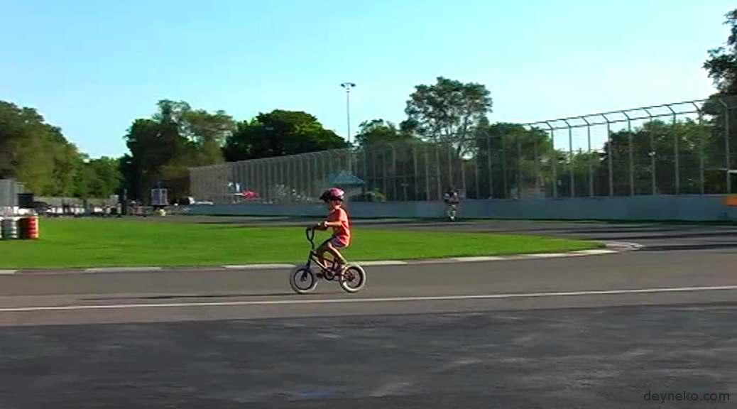 Велопоездка на трассу Формула 1 в Монреале — видео