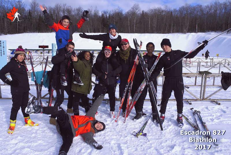 Escadron 827: l'équipe de biathlon
