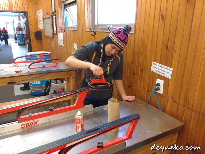 биатлон для подростков обработка беговых лыж