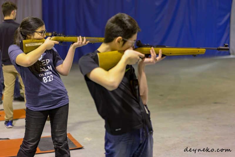 стрельба из пневматической винтовки в кадетах