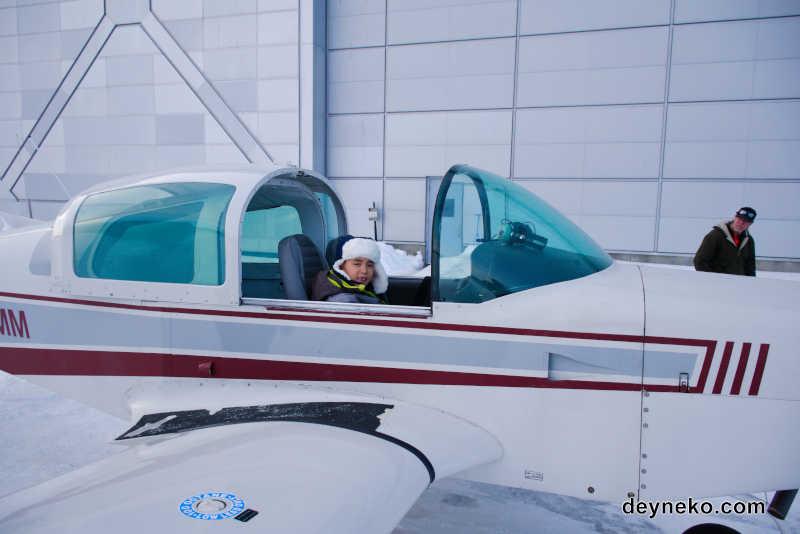 Первый полет Алена на самолете