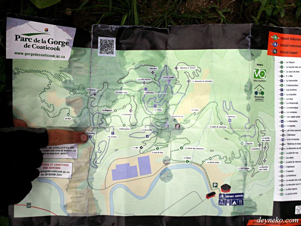 La carte des pistes cyclables