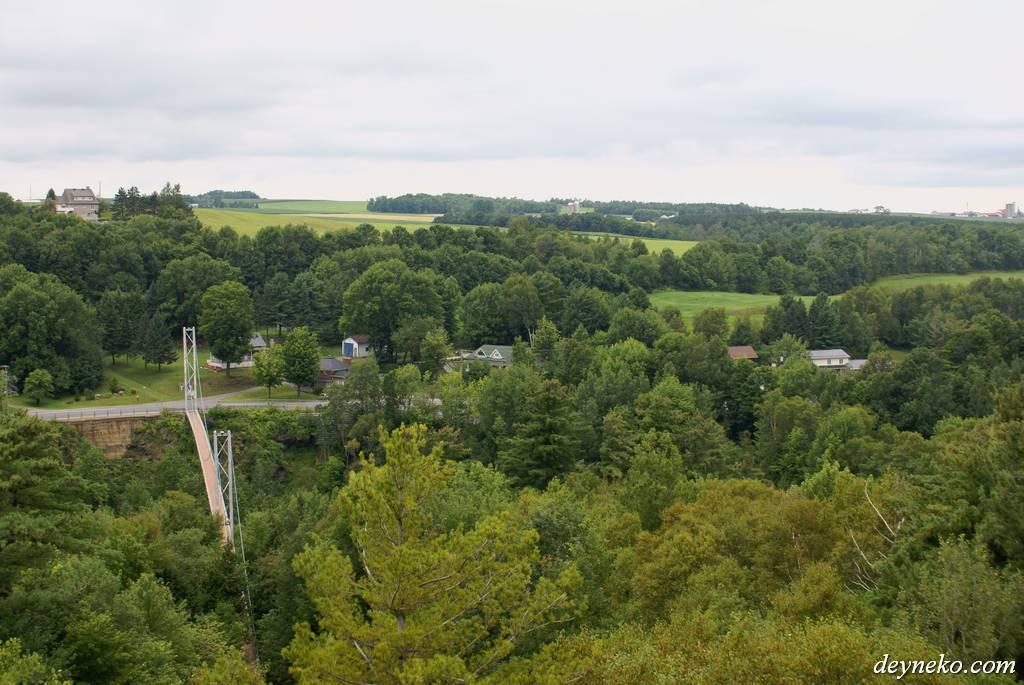 самый длинный подвесной мост в Квебеке