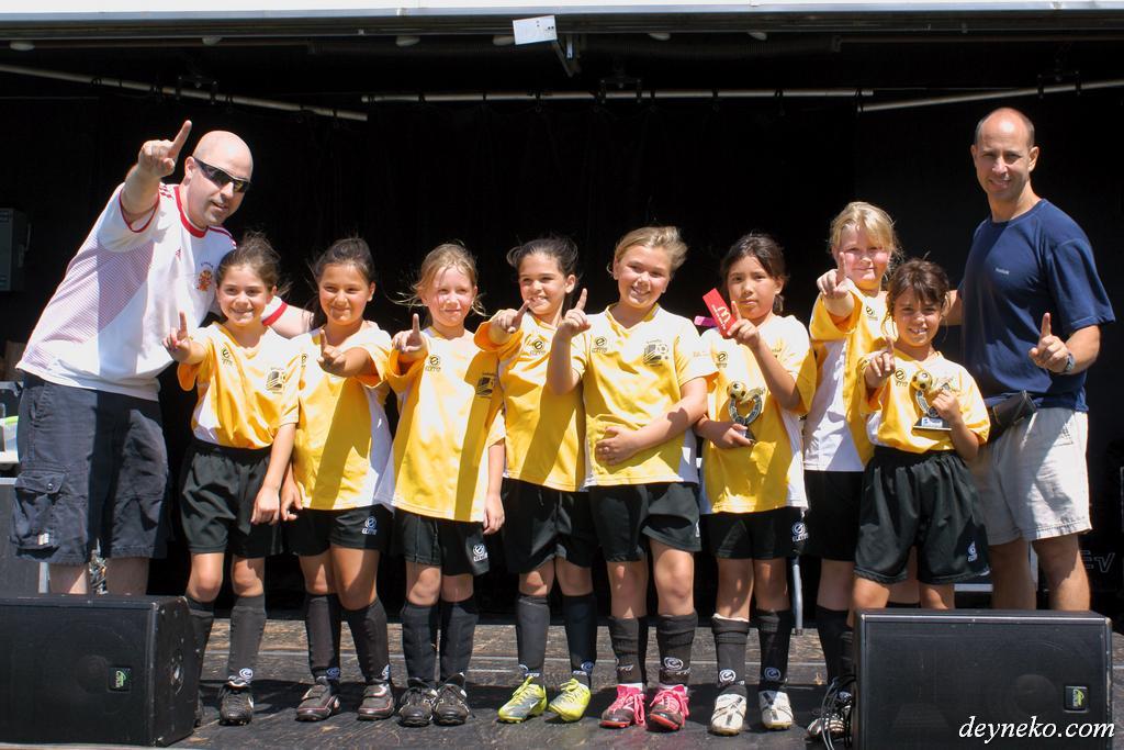 Soccer for girls in Lasalle – Denmark team in action!