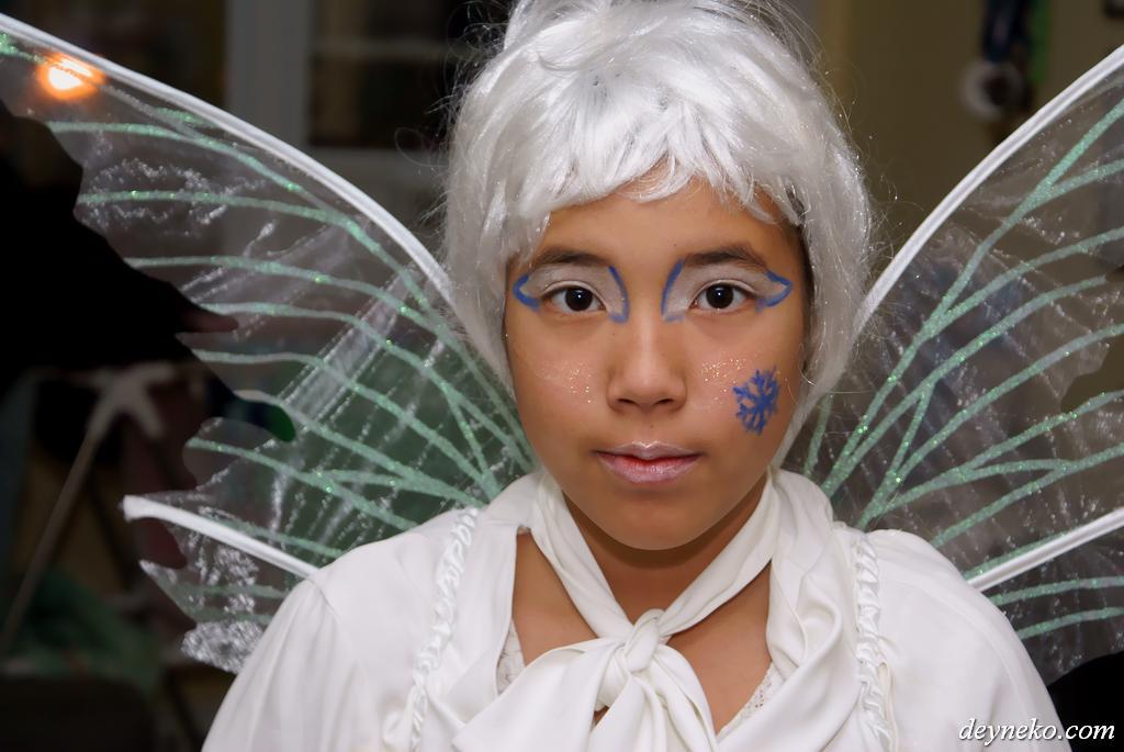 Зимняя фея костюм макияж на хэллоуин