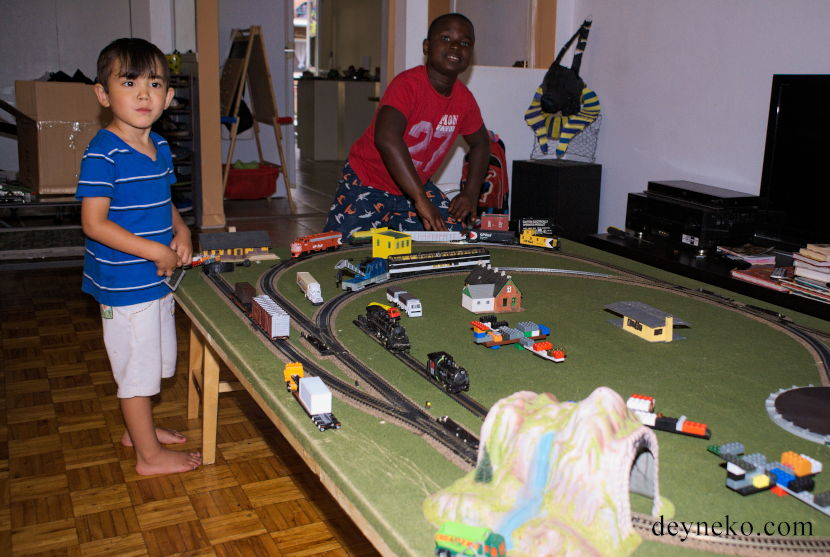 HO train layout Montreal