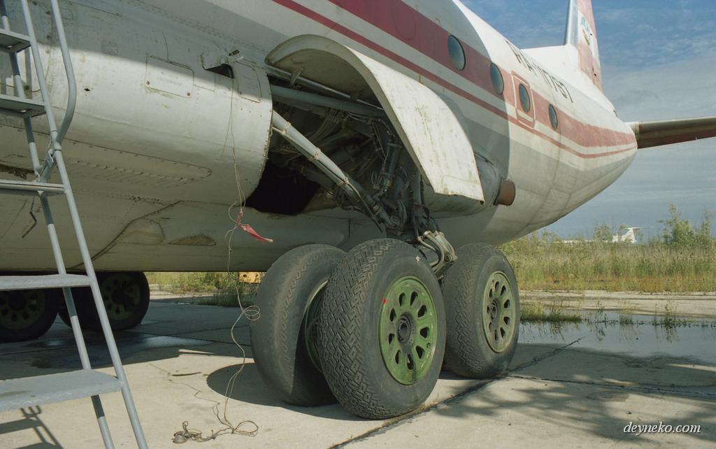 Ан-12 шасси аэропорт г.Якутска