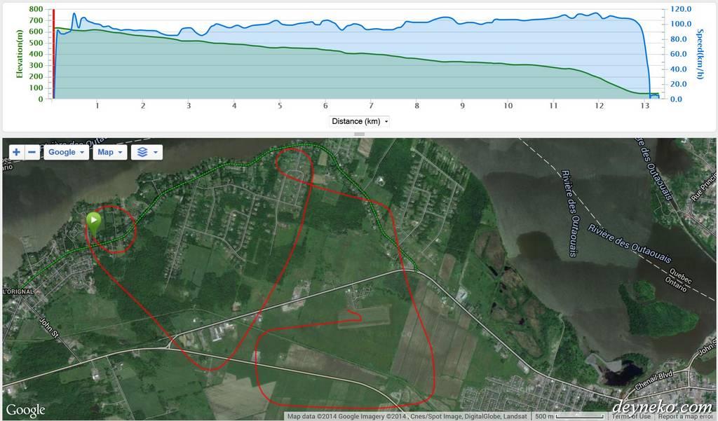 запись GPS трека полет на планере