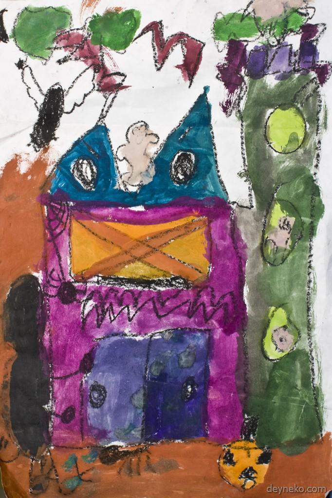 рисунок срашного дома