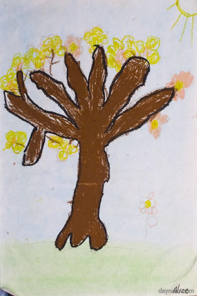 детский рисунок дерева