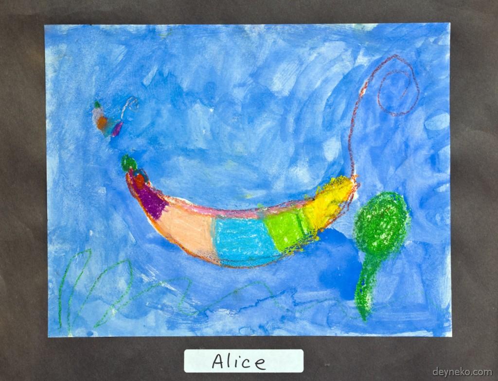 разноцветный кальмар