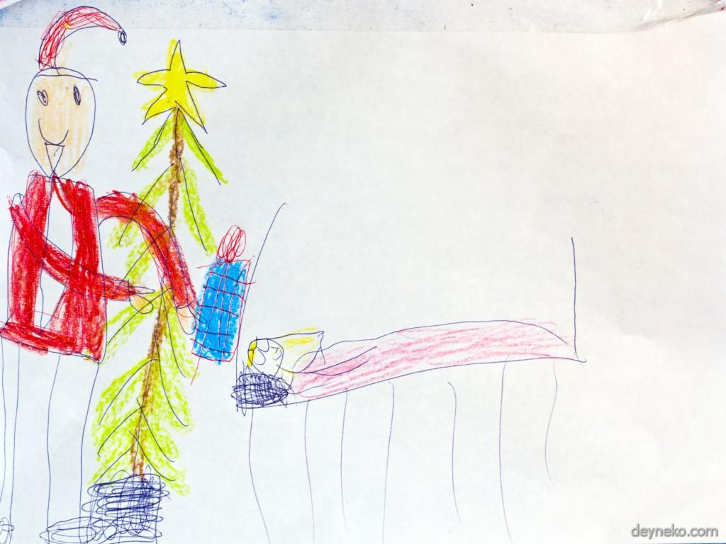 дети рисуют новый год