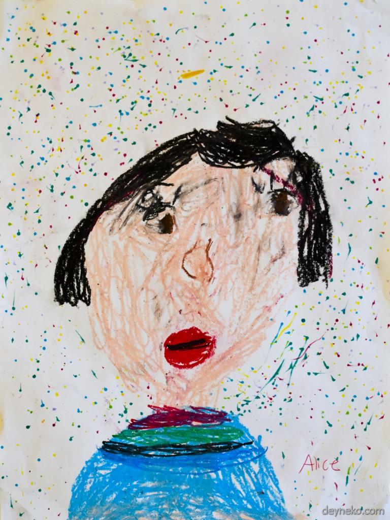 дети рисуют себя
