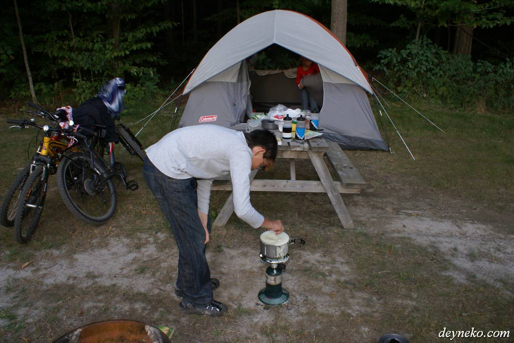 Camping - Our first bicycling adventure in Canada
