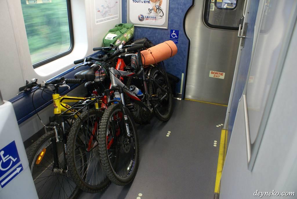 bike racks in Canadian train