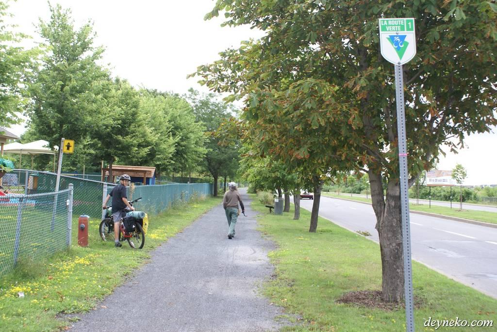 Велодорожка la route verte 1 в Монреале