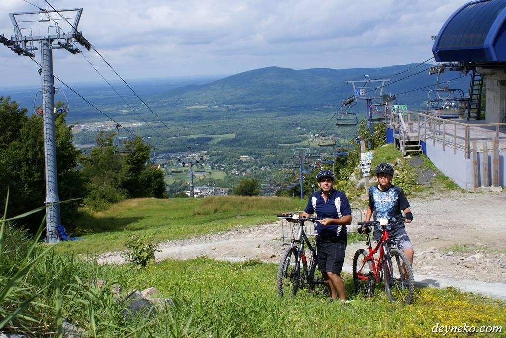 Велопоход Монреаль — Бромонт — Монреаль и Даунхилл