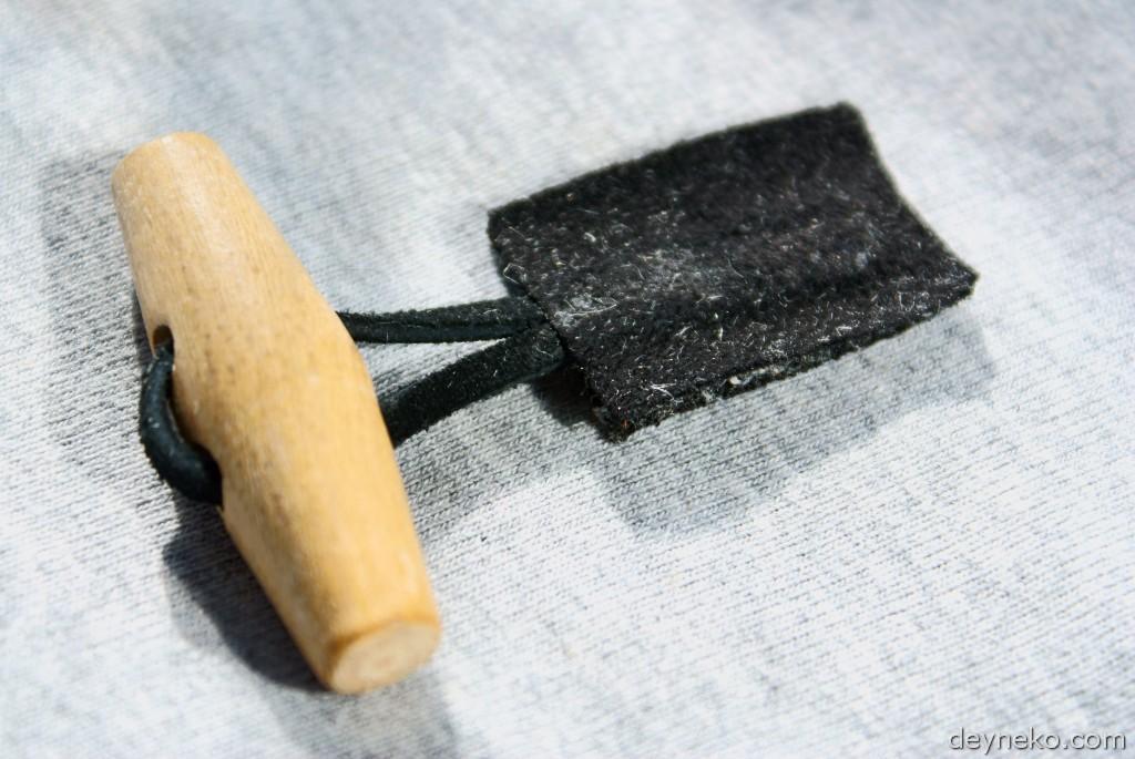 самодельная застежка для куртки из искусственного меха