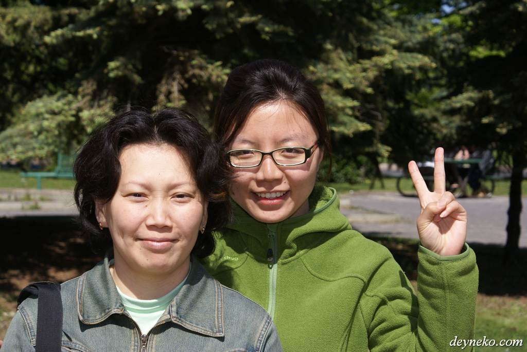 Alexandra from Russia and Ma Jing from China