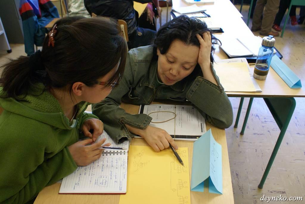 На уроке французского генеалогическое дерево
