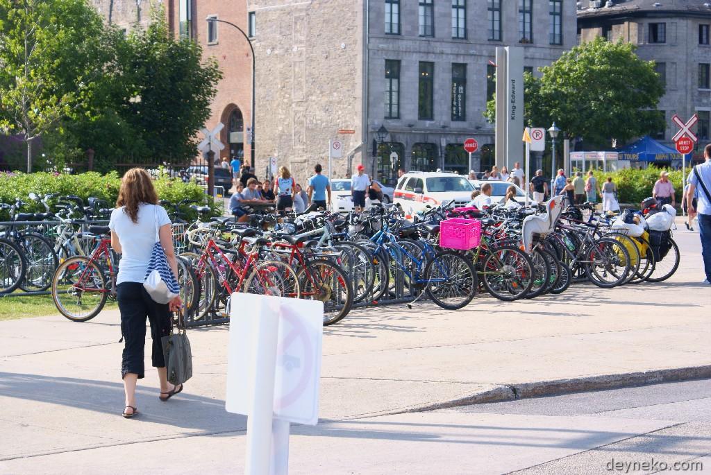 велостоянка в Монреале