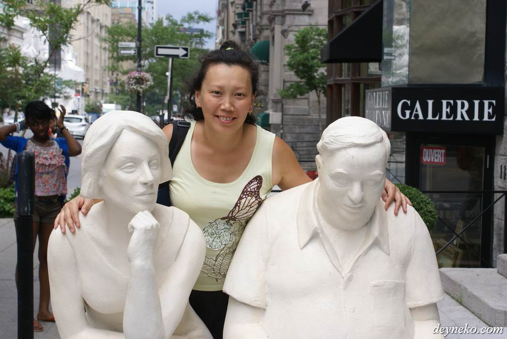 Александра решила присоединиться к двум отдыхающим в Монреале