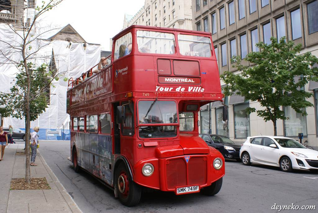 British bus in Montreal