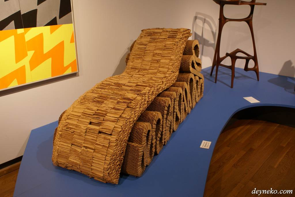 Paper bed in Montreal museum of fine arts