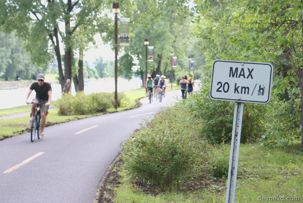 ограничение скорости для велосипедов