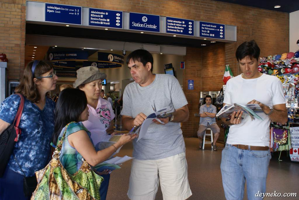 French language lesson at Montreal's train station
