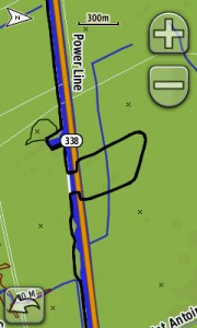 Screenshot from our GPS. This loop is detour (about 1.5 km)