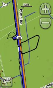 трек на GPS Garmin Oregon